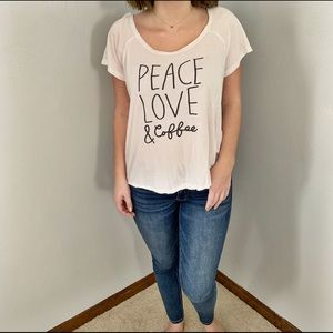 Peace love and coffee shirt